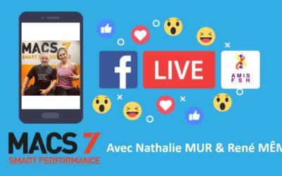 Facebook Live avec Nathalie Mur & René Même 🔥 Session Sport adapté FSH sous l'angle MACS7 🔥 Jeudi 16 avril 2020
